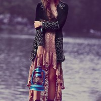 Free People Embellished Magic Velvet Coat