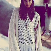 Free People FP New Romantics Mirror Pieces Pullover