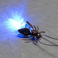Firefly Night Light Necklace by ranaway on Etsy