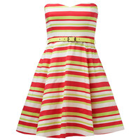 Daisy fluro stripe prom dress - Forever New