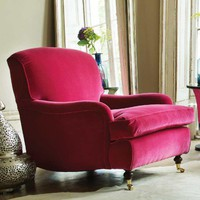 Windsor Velvet Armchair