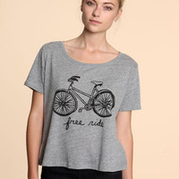 Urban Outfitters - Free Ride Crop Tee