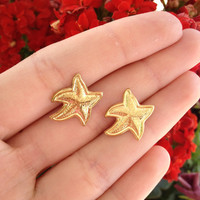 Gold- Starfish- Earring Studs