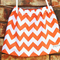 Orange Chevron Skirt, Toddler Chevron Skirt, Baby Chevron Skirt, Fall Chevron Skirt