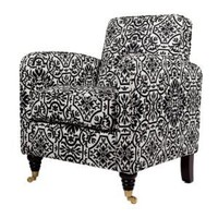 Amazon.com: angelo:HOME Grant Chair Black and White Damask: Home & Garden