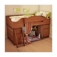 Amazon.com: South Shore Loft Bed Imagine Collection, Morgan cherry: Home &amp; Garden