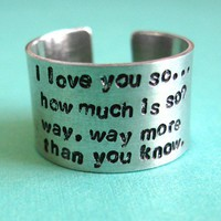 Custom Wordy Ring | Spiffing Jewelry