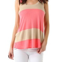 Daftbird Striped Low Back Tank | SHOPBOP