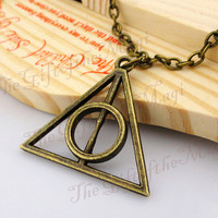 Deathly Hallows Necklace,Harry potter  Necklace--Antique Bronze Necklace----Best Chosen Gift-friendship gift,Personalized Necklace