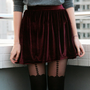 Burgundy Velvet Skirt Handmade