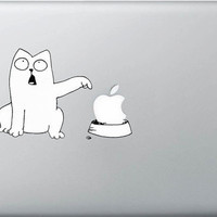 Cat  Macbook Decals Macbook Sticker Vinyl Decals for by Nightley