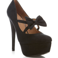 Stephanie Bow Front Heel - Shoes