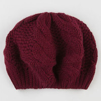 Cable Knit Womens Beret     203466320 | Hats | Tillys.com