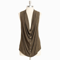 cypress leaf draped vest - &amp;#36;33.99 : ShopRuche.com, Vintage Inspired Clothing, Affordable Clothes, Eco friendly Fashion