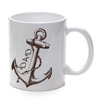 Dad Mug with Nautical Ship Anchor Fathers Day, Birthday, Christmas ceramic coffee cup