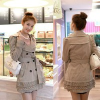 Cotton+Polyester M Size Long Sleeves Coat--Women's Coats China Wholesale - Sammydress.com