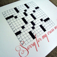 Sorry for my cross words Greeting Card by CantonBoxCompany