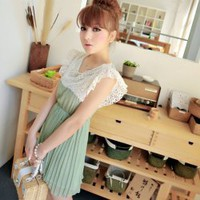 Exquisite Green Lace + Chiffon Sleeveless Dress--Women's Dresses China Wholesale - Sammydress.com