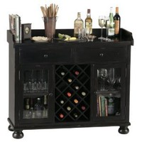 Amazon.com: Howard Miller 695-002 Cabernet Hills Wine & Bar Console: Home & Garden