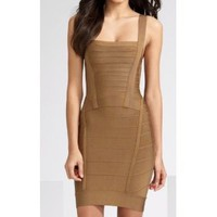 Herve Leger Bandage Chestnut Dress [2011052308] - &amp;#36;278.00 : shoesoutletus.com, shoesoutletus.com