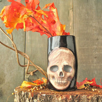 Skull Cup/Vase by niswanderceramics on Etsy