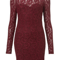 Paisley Lace High Neck Bodycon Dress - Dresses  - Apparel