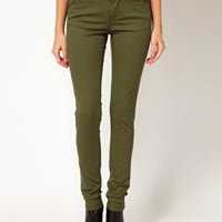 ASOS Skinny Trousers in Cotton Twill at asos.com