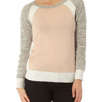 Grey colour block jumper - Jumpers  - Clothing