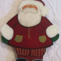 Christmas Santa Claus Wood Painted Shelf Sitter