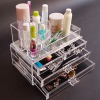 New Clear Acrylic Jewelry Drawers box Storage Makeup case Cosmetic Organizer