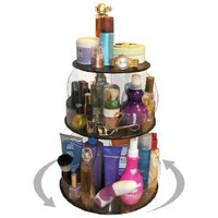 "Amazon.com: Makeup & Cosmetic Organizer That Spins for Easy Access to all your Beauty Essentials, NO More Clutter!Save Space, Only 12"" needed on Your Counter. ...Proudly Made in the USA! by PPM.: Beauty"