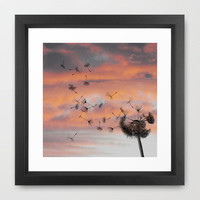 And the days went by Framed Art Print by Skye Zambrana | Society6