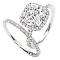 Harry Winston | Products | Engagement | Diamond Rings | Micropav? Ring, Cushion-cut