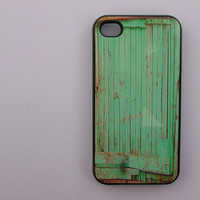 Old Green Fence Print  - iphone 5 cases - iphone 4s case - iphone 4 case