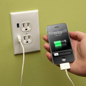 [out of stock] ThinkGeek :: U-Socket USB Wallplug