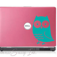Owl Laptop Mac Macbook Notebook Wall or Car Window Decal by psassy