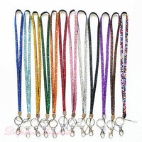 Multi- Colors Bling Rhinestone Necklace LANYARDs Keychain Key / ID / Cell Phone Holder