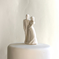 Sugar Bride and Groom Cake Topper by andiespecialtysweets on Etsy
