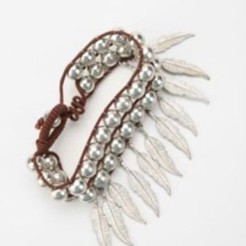 UrbanOutfitters.com > Bead & Feather Dangle Bracelet