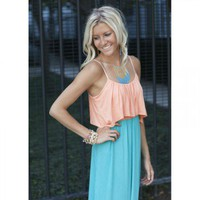 Apricot Ruffle Top Jade Maxi Dress