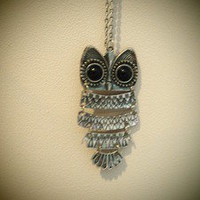 COSMIC RAY clothing — 'OWL' Silver Necklace