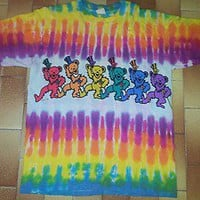 VINTAGE 90s GRATEFUL DEAD ROCK HIPPIE PUNK TIE DYE CONCERT TOUR PROMO SHIRT