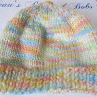 Knitted Baby Hat in Pastel