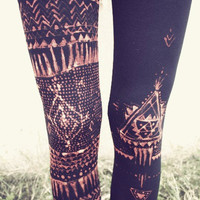 TRIBAL LEGGINS handpainted