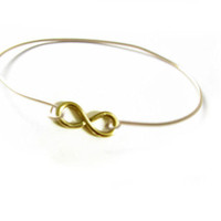 Wire Wrapped Infinity Bracelet Bangle Bracelet Jewelry Gift birthday wedding