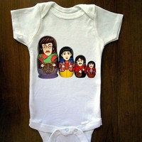 Beatles Russian Nesting Dolls Baby Onesuit Great by trulysanctuary