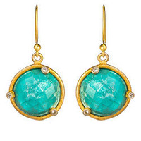 Sku Turquoise and Crystal Earrings - Max and Chloe