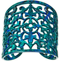 Bellissima Ornate Filigree Cuff Bracelet - Max and Chloe