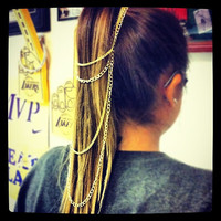 Gold Ponytail Chain Harness --Kim Kardashian inspired