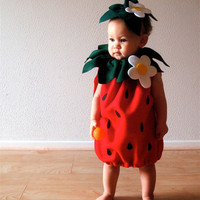 $50.00 Strawberry Baby Costume by NotTheKitchenSink on Etsy